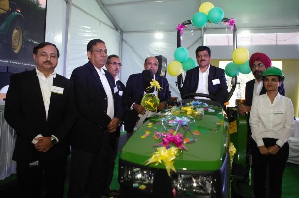 Mr Satish Nadiger, Managing Director, John Deere launching new four whee...