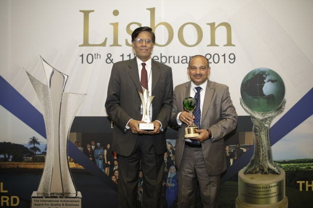 Dr. S Devarajan, Senior Vice President - Production Engineering & Mr. Dananjaya, General Manager - Production Engineering from TVS Motor Company received the awards at Intercontinental Hotel, Lisbon, Portugal.jpg